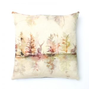 Voyage Wilderness Plum Square Cushion