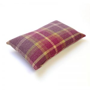 Balmoral Amethyst Tartan Rectangular Cushion