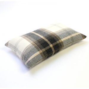 Balmoral Charcoal Tartan Rectangular Cushion