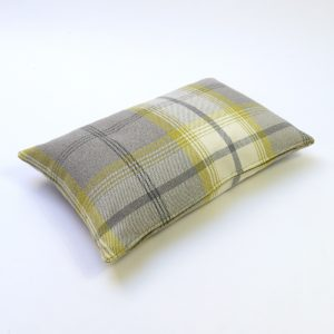 Balmoral Citrus Tartan Rectangular Cushion
