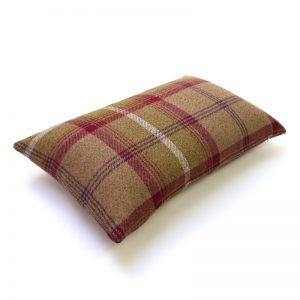 Balmoral Heather Tartan Rectangular Cushion