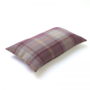 Balmoral Lavender Tartan Rectangular Cushion