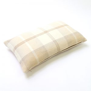 Balmoral Natural Tartan Rectangular Cushion