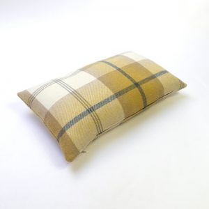 Balmoral Ochre Tartan Rectangular Cushion