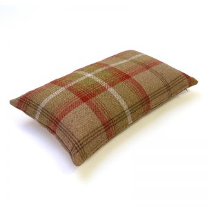 Balmoral Rust Tartan Rectangular Cushion