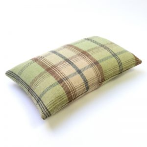 Balmoral Sage Tartan Rectangular Cushion