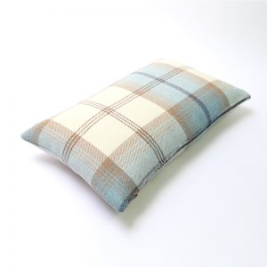 Balmoral Sky Tartan Rectangular Cushion