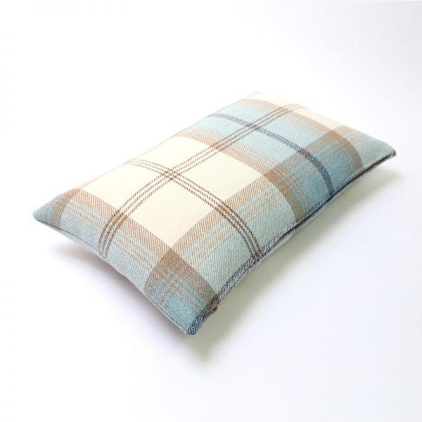 Balmoral Sky Tartan Rectangular Cushion