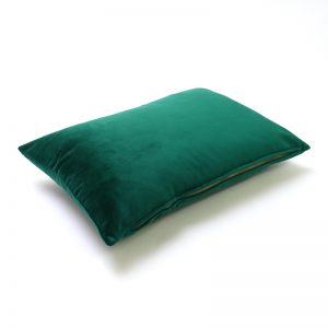 Emerald Green Velvet Rectangular Cushion