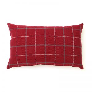 Exford Cherry Tartan Rectangular Cushion