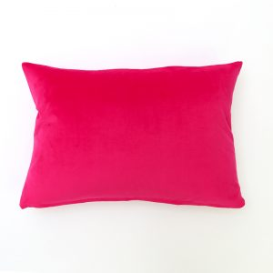 Fuchsia Pink Velvet Rectangular Cushion