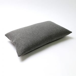 Light Grey Wool Rectangular Cushion