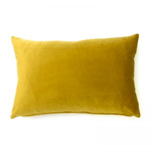 Mustard Yellow Velvet Rectangular Cushion
