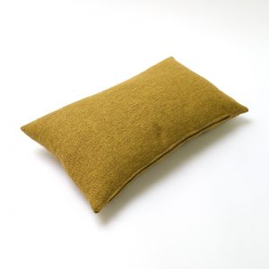 Mustard Yellow Wool Rectangular Cushion