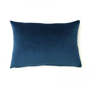 Navy Blue Velvet Rectangular Cushion