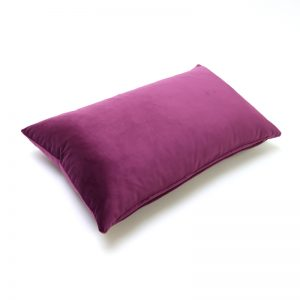 Aubergine Velvet Rectangular Cushion