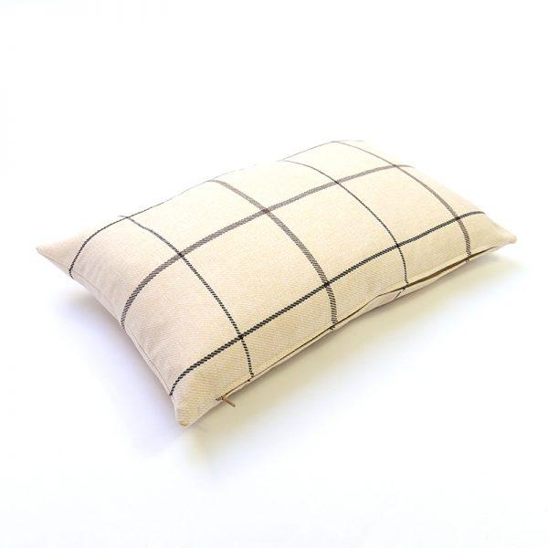 Winsford Cream Tartan Rectangular Cushion