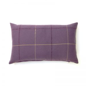 Winsford Lavender Tartan Rectangular Cushion