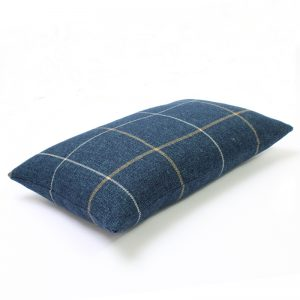 Winsford Navy Blue Tartan Rectangular Cushion