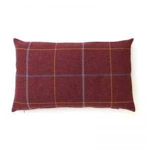 Winsford Plum Tartan Rectangular Cushion