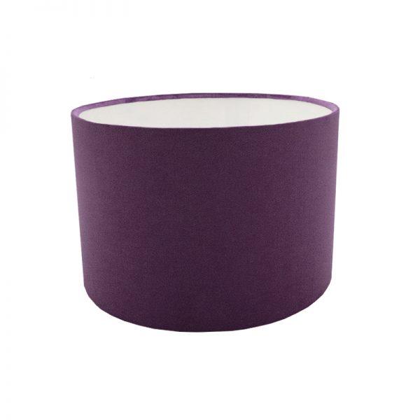 Aubergine Velvet Drum Lampshade