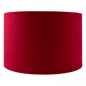Berry Red Velvet Drum Lampshade