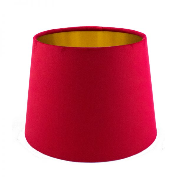 Berry Red Velvet French Drum Lampshade