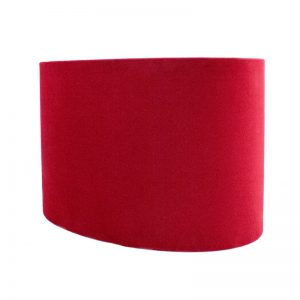 Berry Red Velvet Oval Lampshade