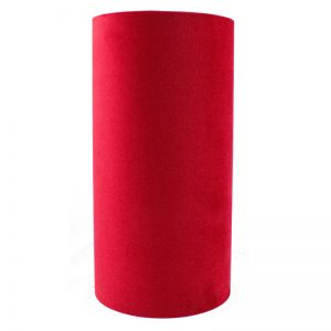 Berry Red Velvet Tall Drum Lampshade