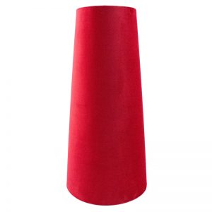 Berry Red Velvet Tall Tapered Lampshade