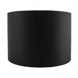Black Satin Drum Lampshade