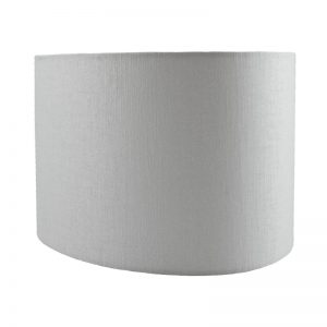 Ivory Satin Oval Lampshade