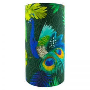 Peacock Tall Drum Lampshade