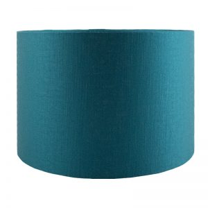 Teal Satin Drum Lampshade