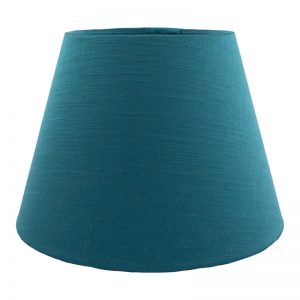 Teal Satin Empire Lampshade