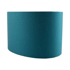 Teal Satin Oval Lampshade