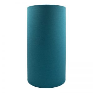 Teal Satin Tall Drum Lampshade