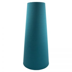 Teal Satin Tall Tapered Lampshade