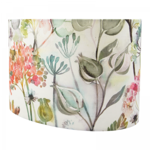 Voyage Hedgerow Coral Oval Lampshade
