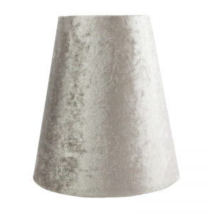 Crushed Grey Velvet Tall Empire Lampshade