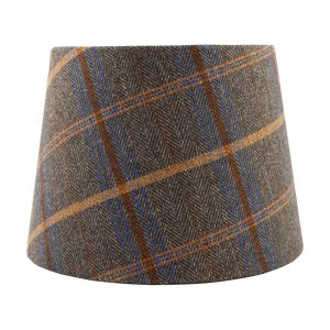 Margo Umber Tartan French Drum Lampshade