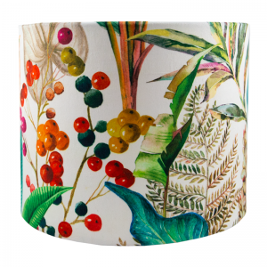 Oasis White Velvet Drum Lampshade