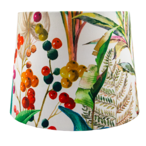 Oasis White Velvet French Drum Lampshade