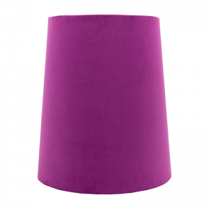 Aubergine Velvet Tall French Drum Lampshade
