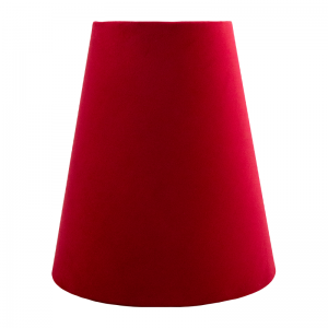Berry Red Velvet Tall Empire Lampshade