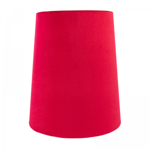 Berry Red Velvet Tall French Drum Lampshade