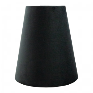Black Velvet Tall Empire Lampshade