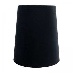 Black Velvet Tall French Drum Lampshade