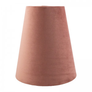 Blush Pink Velvet Tall Empire Lampshade