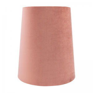 Blush Pink Velvet Tall French Drum Lampshade